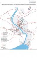 Приложение 5: Карта-схема существующей загрузки улично-дорожной сети города Новосибирска.